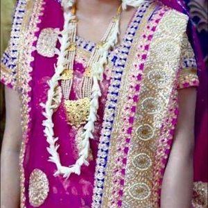 Indian Bangladeshi  bridal mehendi lehenga choli